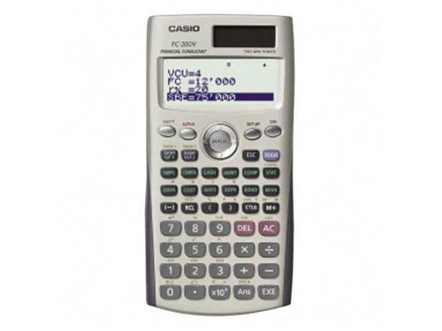 Casio FC200V Financial Calculator - 12 Digit(s) - Dot Matrix - Battery/Solar Powered - 3.2