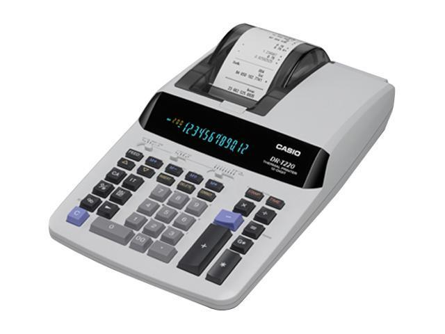 Casio DR-T220 DR-T220 One-Color Thermal Printing Calculator, 12-Digit Digitron, Black
