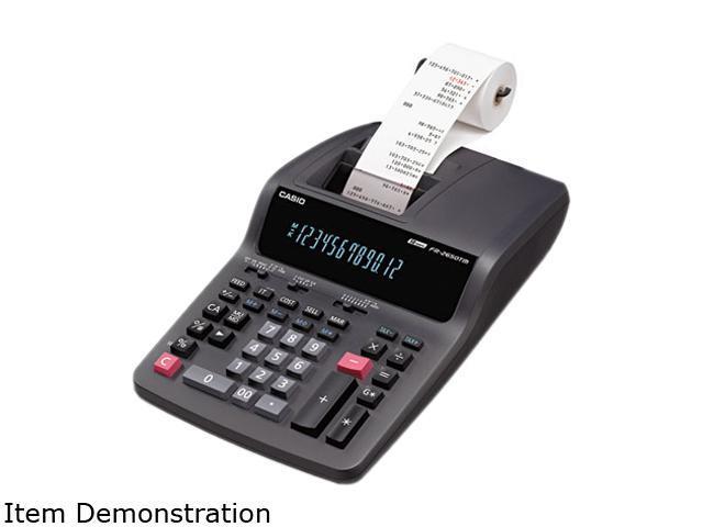 Casio FR2650TM FR-2650TM Two-Color Printing Desktop Calculator, 12-Digit Digitron, Black/Red