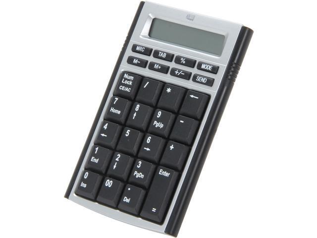 Adesso AKP-160 Numeric Keypad 19KEYS USB BLK MOBILEMINI NUMERIC KEYPAD CALCULATOR