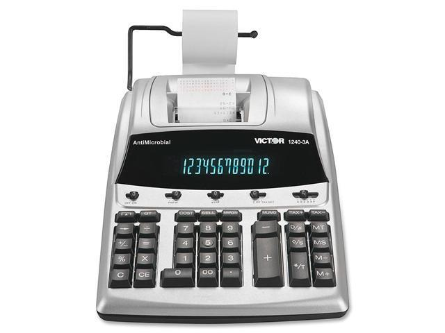 Victor 1240-3A 1240-3A AntiMicrobial Two-Color Printing Calculator, 12-Digit Fluorescent