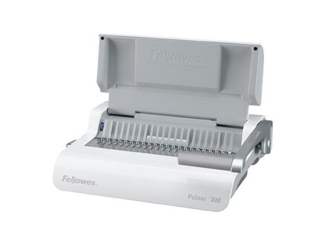 5216601 Fellowes Pulsar Comb Binding System, 300 Sheets, 18-1/8w x 15-3/8d x 5-1/8h, White