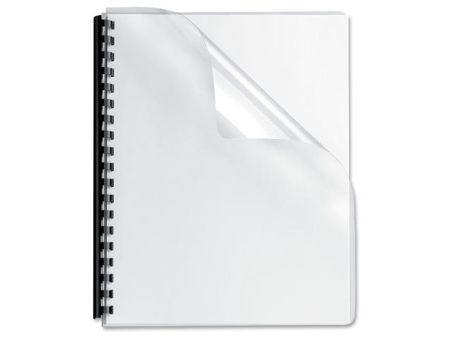 52311 Fellowes Transparent PVC Binding System Covers, 8-3/4