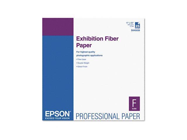 S045039 Exhibition Fiber Paper, 17 x 22, White, 25 Sheets