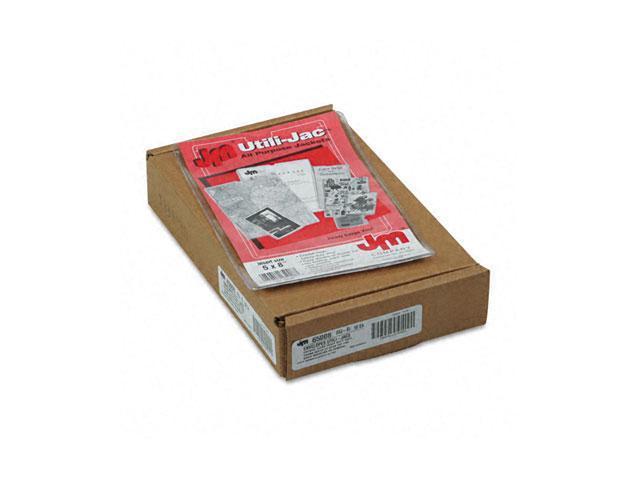 Oxford 65008 Utili-Jacs Heavy-Duty Clear Vinyl Envelopes, 5 x 8, 50/Box