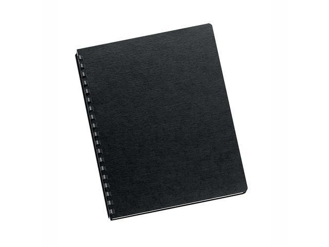 52115 Fellowes Linen Texture Binding System Covers, 11-1/4 x 8-3/4, Black, 200/Pack