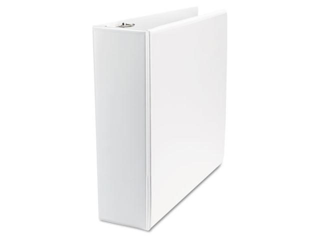 Office Impressions Economy D-Ring Vinyl View Binder, 3in Capacity, White