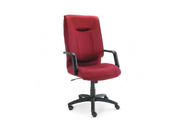 Alera ST41FA30B Stratus Series High-Back Swivel/Tilt Chair, Burgundy Fabric