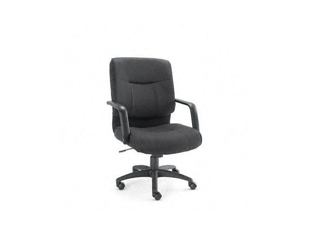 Alera ST42FA10B Stratus Series Mid-Back Swivel/Tilt Chair, Black Fabric