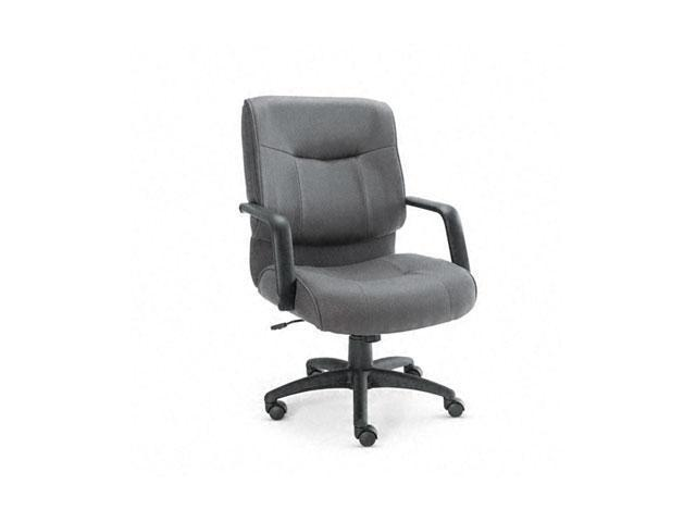 Alera ST42FA40B Stratus Series Mid-Back Swivel/Tilt Chair, Gray Fabric