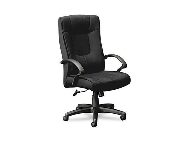 basyx VL441VC10 VL441 Series High-Back Executive Chair, Black Fabric and Frame, 5-Star Base