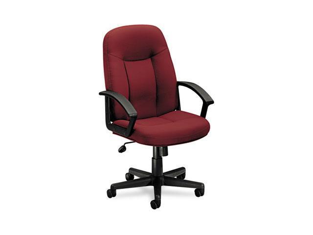 basyx VL601VA62T VL601 Series Managerial Mid-Back Swivel/Tilt Chair, Burgundy Fabric/Black Frame