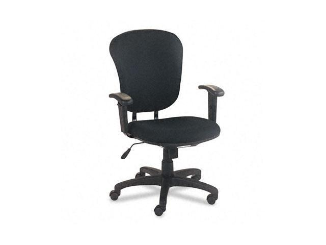 basyx VL620VA10 VL600 Series Mid-Back Swivel/Tilt Task Chair, Black