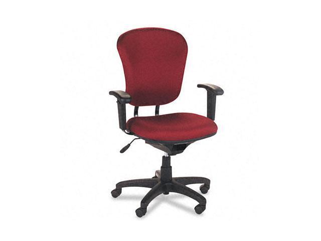 basyx VL620VA62 VL600 Series Mid-Back Swivel/Tilt Task Chair, Burgundy
