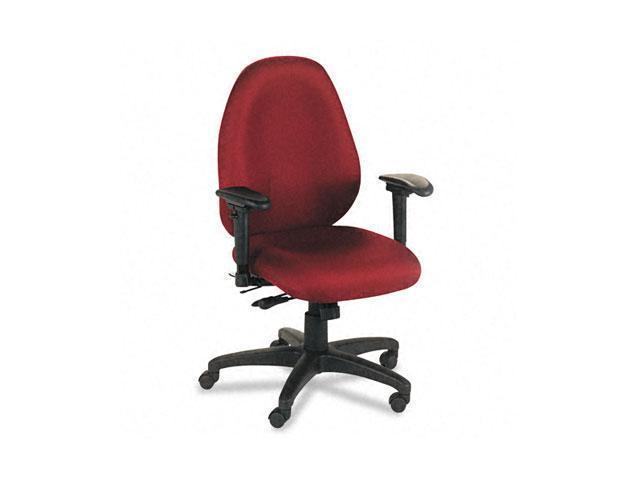 basyx VL630VA62 VL600 Series High-Performance High-Back Task Chair, Burgundy