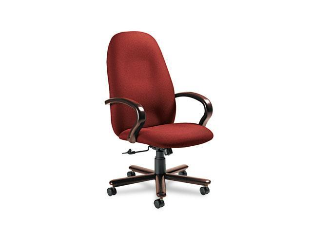 Global 49464TMMIM52 Enterprise High-Back Tilt Chair, 26-1/2 x 27 x 47-1/2h, Burgundy/Tiger Mahogany