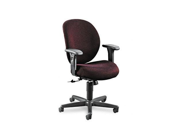 HON 7624BW69T Unanimous 24-Hour Task Series Mid-Back Swivel/Tilt Chair, Claret Burgundy