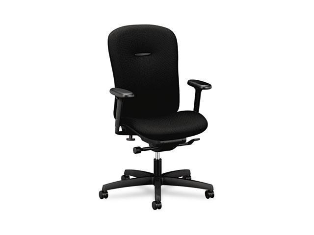 HON MAM1HUBNT10T Mirus Series Mid-Back Synchro-Tilt Chair, Black Fabric Upholstery