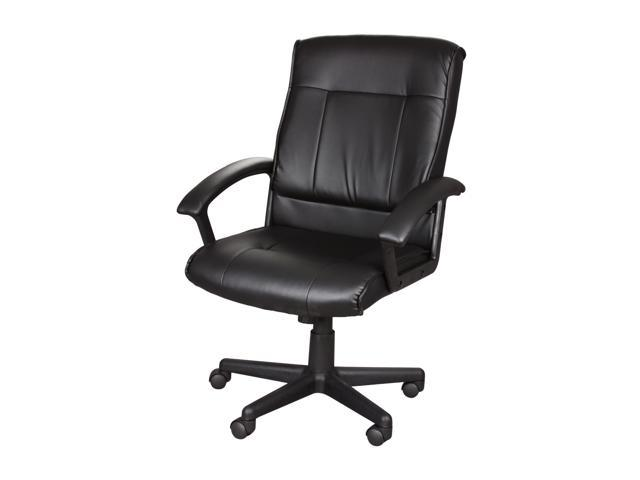 Rosewill Middle Back Leather Manager's Chair - Black (RFFC-11002)