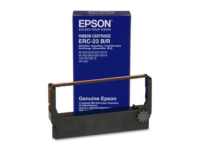 EPSON ERC-23BR Black / Red Fabric Ribbon