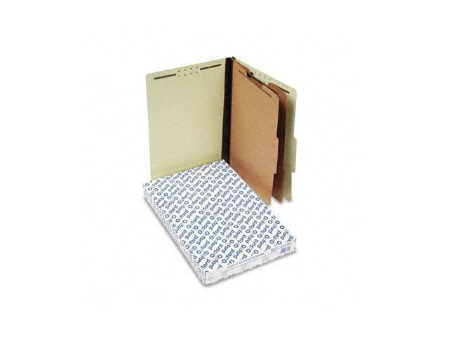 Pendaflex 2257G Pressboard Classification Folders, Legal, Six-Section, Light Green, 10/Box