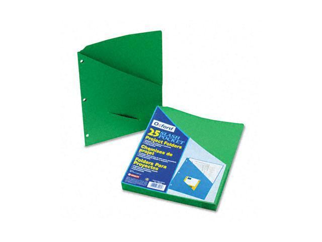 Pendaflex 32925 Essentials Slash Pocket Project Folders, Jacket, Letter, Green, 25/Pack