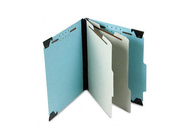 """Pendaflex 59252 2"""" Expansion Pressboard Hanging Folder, Letter, Six-Section, Blue"""