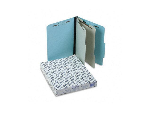 Pendaflex 920025RCP2 Pressboard Classification Folder, 2/5-Tab, Letter, Six-Section, Blue, 10/Box