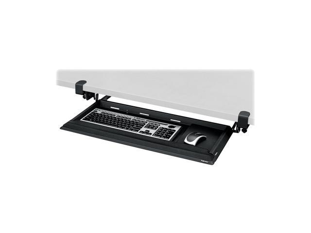 Fellowes DeskReady Keyboard Drawer,  Black Pearl