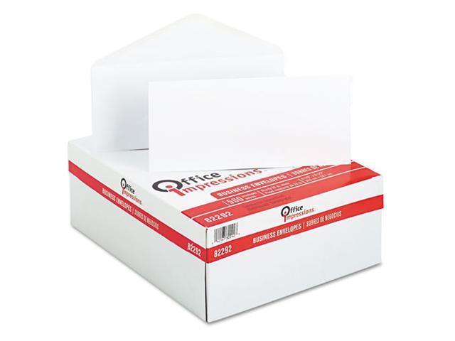 Office Impressions Plain Envelopes, #10, White, 500/Box