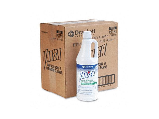 Vanish 90158CT Nonacid Bowl & Bathroom Cleaner, 32 oz. Flip-Top Spout Bottles, 6/Carton