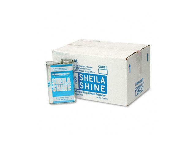 Sheila Shine 2CT Stainless Steel Cleaner & Polish, 1 Quart Can, 12/Carton