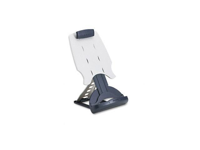 Kensington 62058 InSight Adjustable Desktop Copyholder, Plastic, Holds 50 Sheets, Dark Blue/Gray