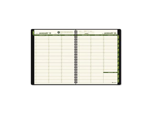 AT-A-GLANCE 70-950G-05 Recycled Weekly/Monthly Appointment Book, Black, 8 1/4