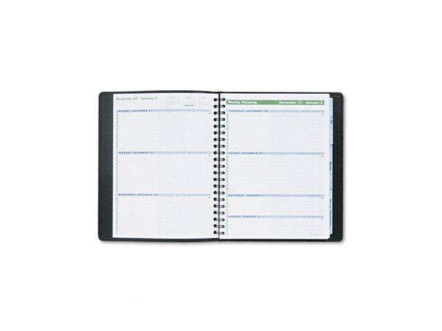 "AT-A-GLANCE 70-EP01-05 The Action Planner Recycled Weekly Appointment Book, Black, 8 1/8"" x 10 7/8"""