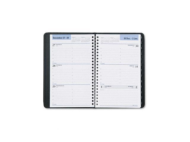 """DayMinder G210-00 Recycled Weekly Appointment Book, Black, 4 7/8"""" x 8"""""""