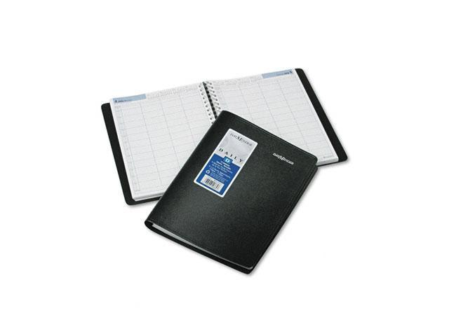 DayMinder Premiere G560-00 Recycled Four-Person Group Daily Appointment Book, Black, 7 7/8