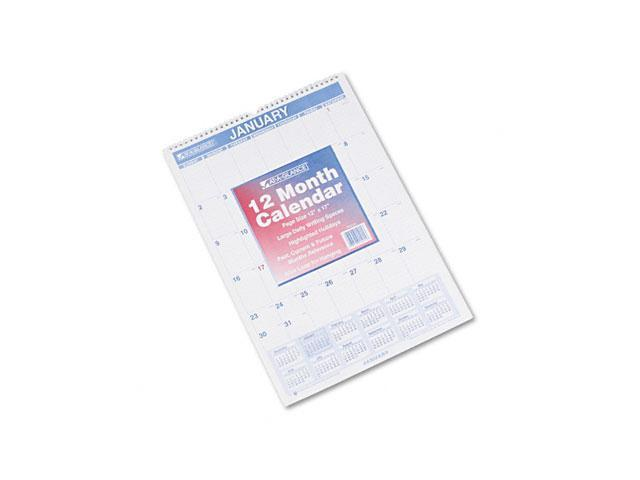 "AT-A-GLANCE PM2-28 Recycled Monthly Wall Calendar, Blue and Red, 12"" x 17"""