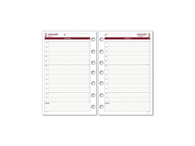 Day Runner 061-125Y Express Recycled Daily Planning Pages, 5-1/2 x 8-1/2
