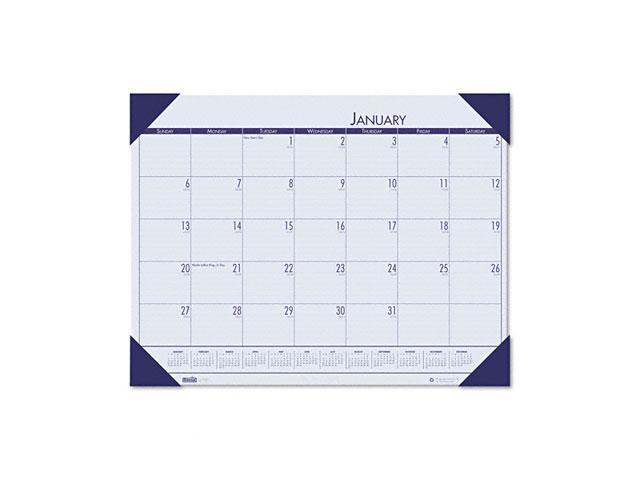 House of Doolittle 12440 - EcoTones Ocean Blue Monthly Desk Pad Calendar, 22 x 17, 2016