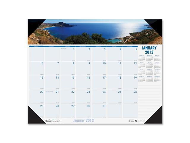 House of Doolittle 178 Coastlines Photographic Monthly Desk Pad Calendar, 22 x 17