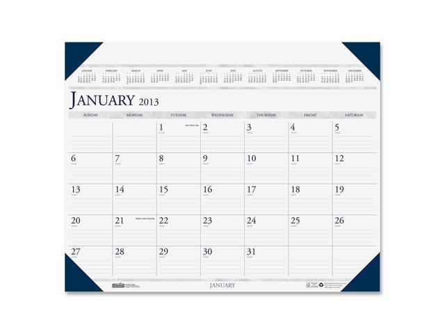 House of Doolittle 180-HD Executive Monthly Desk Pad Calendar w/Alternating Page Colors, 24 x 19