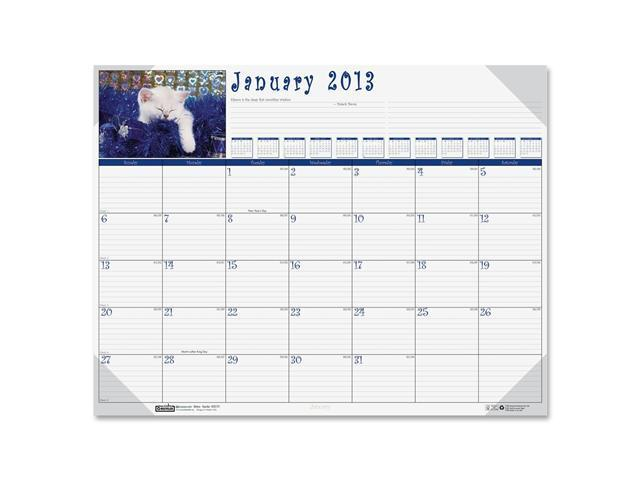 House of Doolittle 191 Kittens Photographic Monthly Desk Pad Calendar, 22 x 17