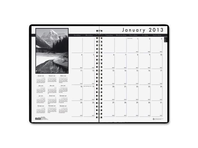 House of Doolittle 2162-02 Monthly Planner w/Black-&-White Photos, 8-1/2 x 11, Black