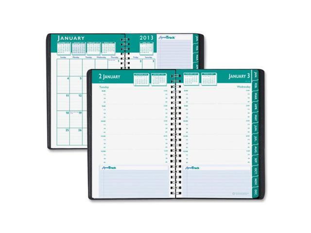 House of Doolittle 298-02 Express Track Daily Appointment Book/Monthly Planner, 5 x 8, Black