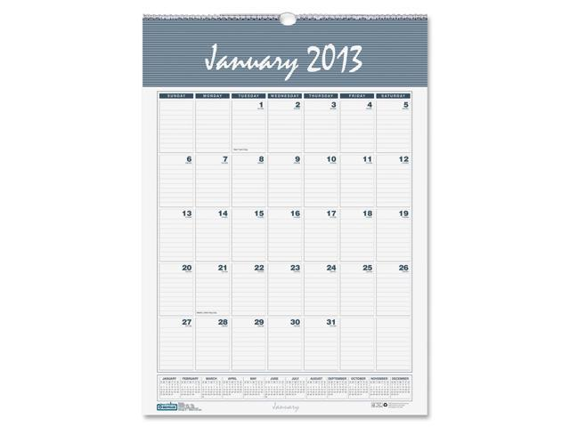 House of Doolittle 333 Bar Harbor Wirebound Monthly Wall Calendar, 15-1/2 x 22