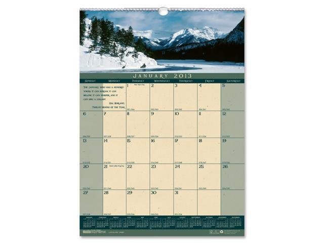 House of Doolittle 362 Landscapes Monthly Wall Calendar, 12 x 16-1/2