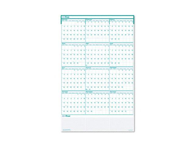 House of Doolittle 392 Express Track Reversible/Erasable Yearly Wall Calendar, 24 x 37