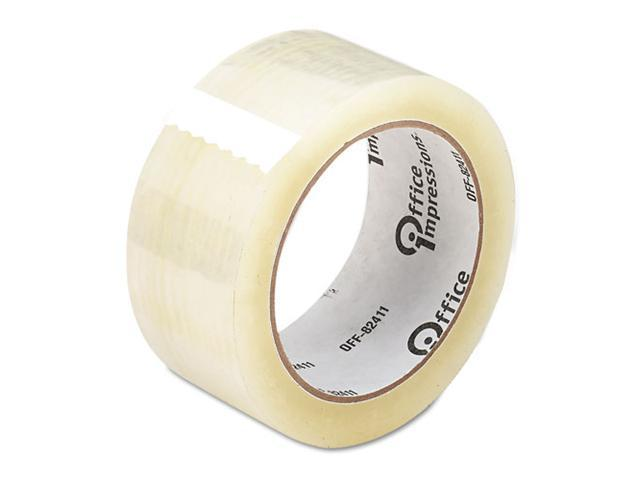 "Office Impressions Heavy-Duty Box Sealing Tape, 2"" x 55 yards, 3"" Core, Clear"