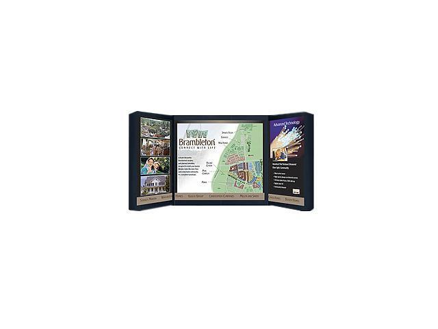 Safco 2325BL Portable Foldout Tabletop Display, Fabric/Hollow-Core Plastic, 72x34, Black